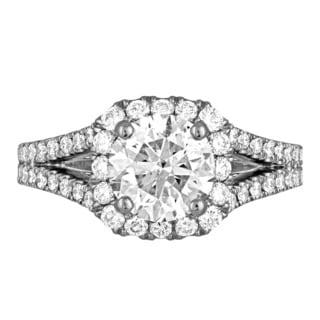 Platinum 2 5/8ct TDW Diamond Engagement Ring By Life More Dazzling (H-I, I1-I2)