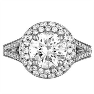 Platinum 3 7/8ct TDW Diamond Engagement Ring By Life More Dazzling (I-J, SI2-I1)