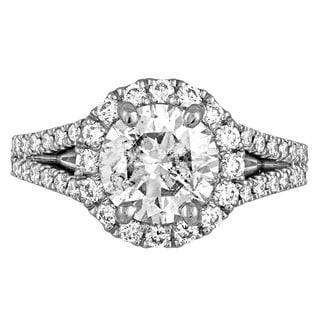 Platinum 2 7/8ct TDW Diamond Engagement Ring By Life More Dazzling (F-G, I1-I2)