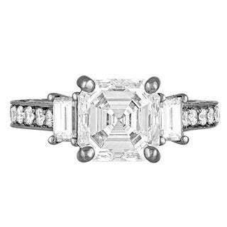 Platinum 4 1/5ct TDW Diamond Engagement Ring By Life More Dazzling (I-J, VS1-VS2)