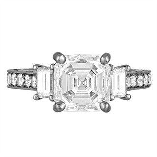 Platinum 4 1/5ct TDW Diamond Engagement Ring By Life More Dazzling (I-J, VS1-VS2)