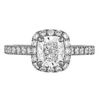 Platinum 2 1/3ct TDW Diamond AGS Certified Engagement Ring By Life More Dazzling (I-J, SI2-I1)