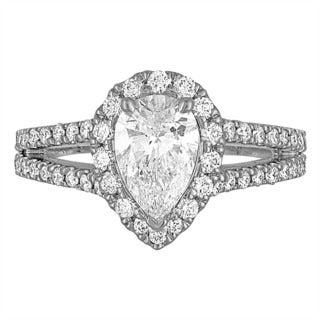 Platinum 2 1/3ct TDW Diamond Engagement Ring By Life More Dazzling (I-J, VS1-VS2)