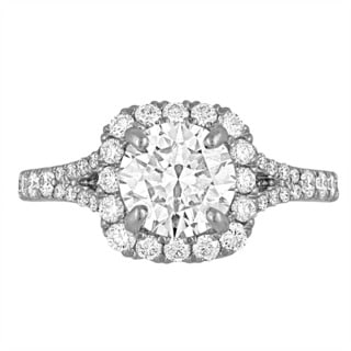Platinum 2 1/3ct TDW Diamond GIA Certified Engagement Ring By Life More Dazzling (I-J, SI2-I1)