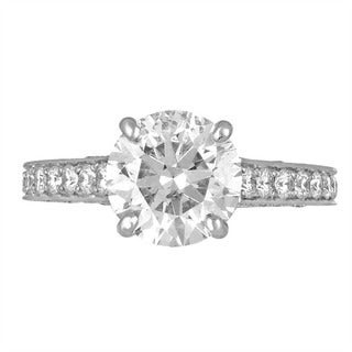 Platinum 3 3/4ct TDW Diamond Engagement Ring By Life More Dazzling (G-H, SI2-I1)