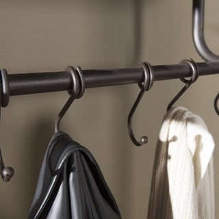 Reginald Metal Entryway Coat and Storage Rack Hall tree