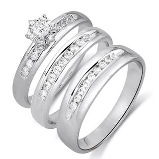 14k White Gold 1/2ctTW Diamond Engagement and Wedding Ring Set|https://ak1.ostkcdn.com/images/products/12634380/P19426337.jpg?impolicy=medium