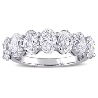 3 1/3ct TDW Diamond Semi-Eternity Wedding Band in 14k White Gold by The Miadora Signature Collection