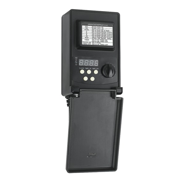 Low Voltage 45 Watt Black Plastic Digital Transformer