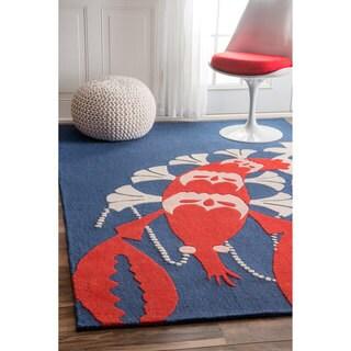 nuLOOM Handmade by Thomas Paul Lobster Multi Rug (7' x 9')