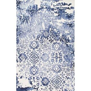 nuLOOM Handmade Vintage Tribal Blue Rug (7'6 x 9'6)