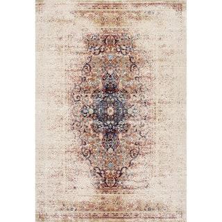 nuLOOM Vintage Persian Distressed Ivory Rug (7'10 x 10'10)