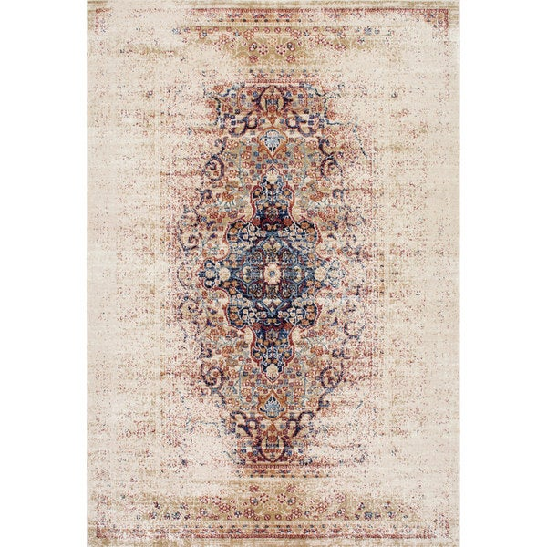 Nuloom Vintage Persian Distressed Ivory Rug 7 10 X 10 10