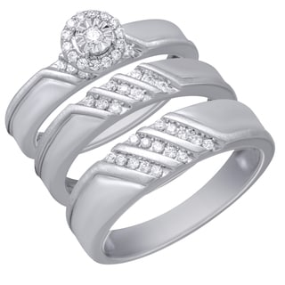 1/3CTtw Diamond Engagement and Wedding Ring Set (I-J, I1-I2)