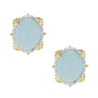 One-of-a-kind Michael Valitutti Oval Cabocho Opaque Aquamarine Stud Earrings|https://ak1.ostkcdn.com/images/products/12634619/P19426538.jpg?_ostk_perf_=percv&impolicy=medium