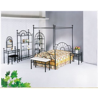 Sunburst Headboard, Footboard, and Canopy, Sandy Black (Rails not included)