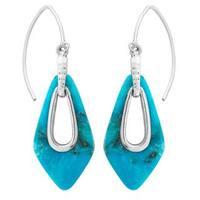 Sterling Silver Nacozuri Turquoise Teardrop Earrings