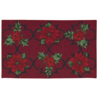 Nourison Essential Elements Poinsettia Red Accent Rug (1'8 x 2'9)