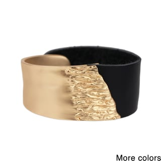 Saachi Rugged Metal Leather Bracelet (China)