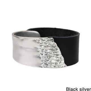 Saachi Rugged Metal Leather Bracelet (China)