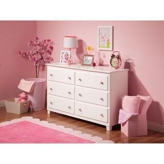 Atlantic White Wood 54-inch 6-drawer Dresser