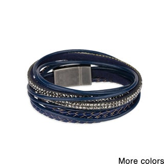 Saachi Multi Strand Leather Wrap Bracelet (China)
