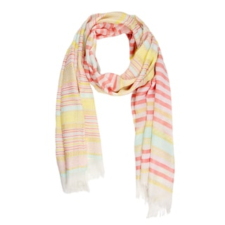 Saachi Multi Striped Peach Scarf (China)
