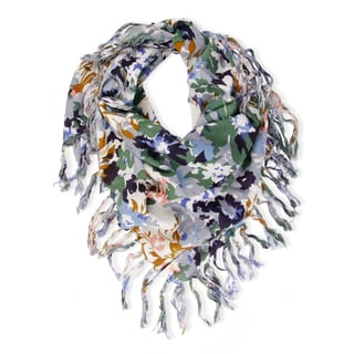 Saachi Women's Floral Watercolor Square Scarf (India)