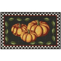 "Nourison Essential Elements Pumpkins Black Accent Rug - 1'6"" x 2'3"""