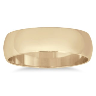 Marquee Jewels 14k Yellow Gold 5-millimeter Domed Wedding Band (Option: 13.5)