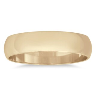 Marquee Jewels 14k Yellow Gold 4-millimeter Domed Wedding Band