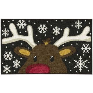 Nourison Essential Elements Reindeer Black Accent Rug (1'6 x 2'6)