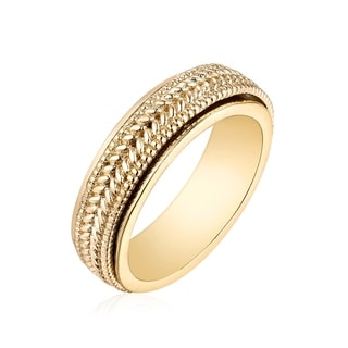 Peermont Jewelry 18k Goldplated Brass Braided Band