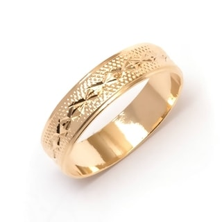 18k Goldplated Engraved Ring