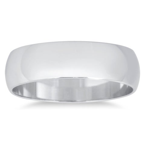 Marquee Jewels 10k White Gold Domed Wedding Band