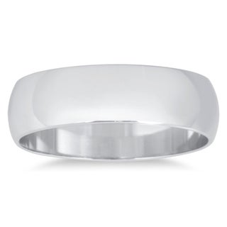 Marquee Jewels 10k White Gold Domed Wedding Band (Option: 13.5)
