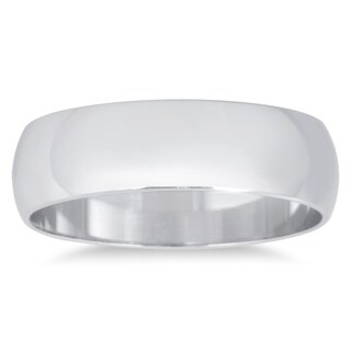 Marquee Jewels 10k White Gold Domed Wedding Band (More options available)