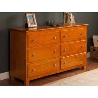 Atlantic Caramel Latte Wood 6-Drawer 54-inch Dresser