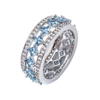 Peermont Jewelry 18k White Goldplated 0.15-carat Cubic Zirconia Princess-cut Ring