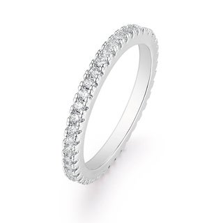 Cubic Zirconia Single Row Eternity Ring - White