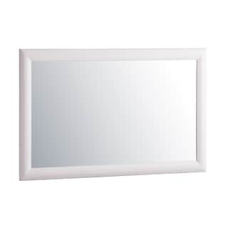 Atlantic White Glass/Wood Mirror