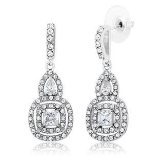 White Rhodium-plated Brass Cubic Zirconia Chandelier Dangling Earrings|https://ak1.ostkcdn.com/images/products/12634977/P19426839.jpg?impolicy=medium