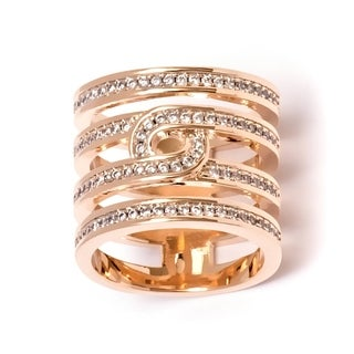 Peermont Jewelry 18k Goldplated Brass and Round-cut Cubic Zirconia Ring
