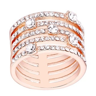 Rose Gold Plated and 5-row Statement Ring