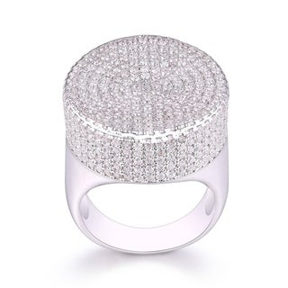 18k White Gold and Cubic Zirconia Statement Ring
