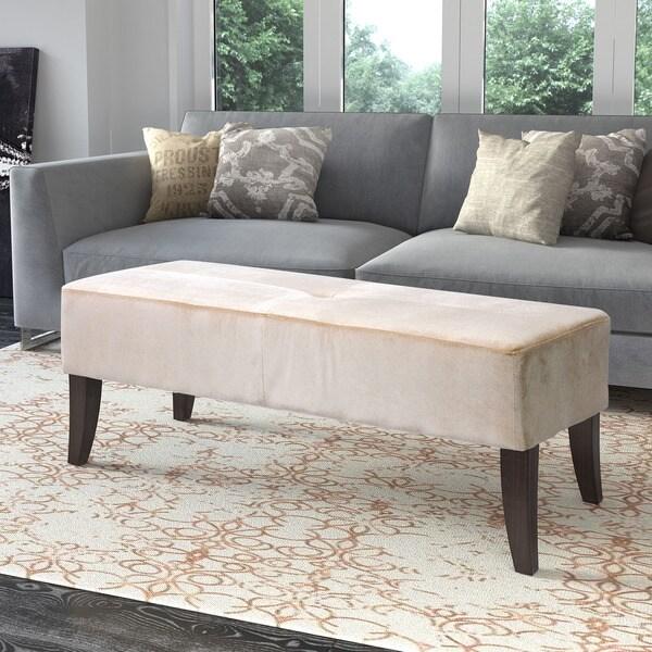 Shop Antonio 46 Inch Wide Velvet Upholstered Bench Free