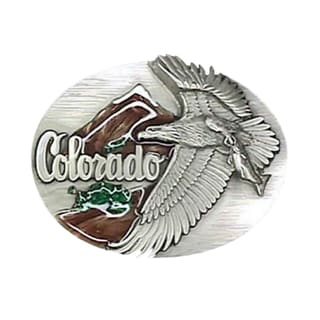 Colorado State Enameled Belt Buckle