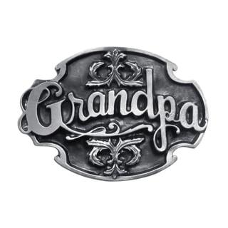 Grandpa Antiqued Metal Belt Buckle