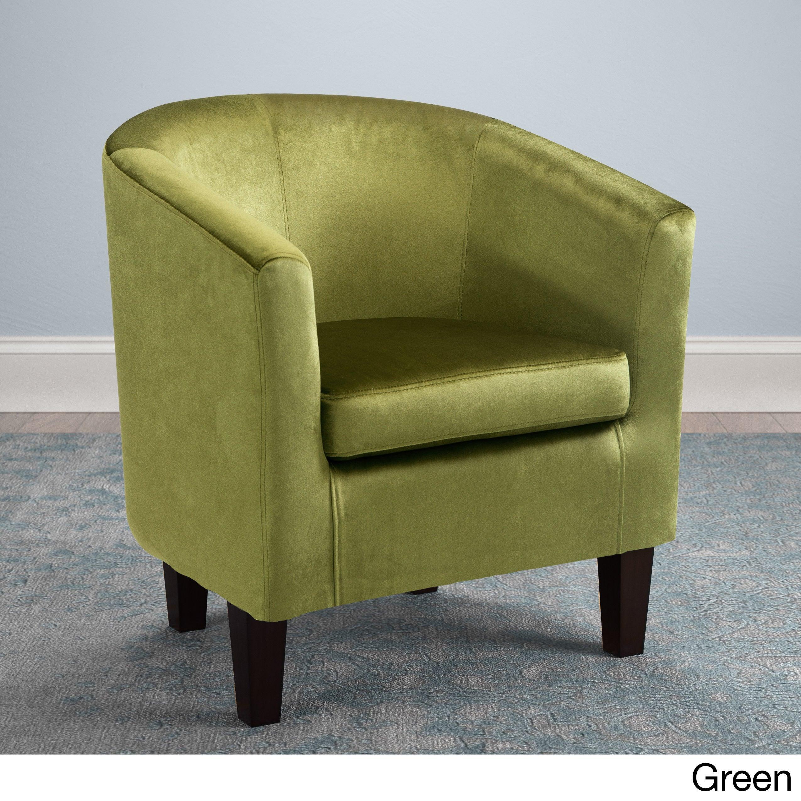 Shop Clay Alder Broadway Velvet Upholstered Tub Chair - Free ...