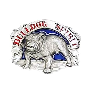 Bulldog Spirit Metal Enameled Belt Buckle